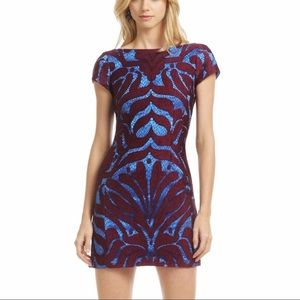 Nanette Lepore Wild One Lace Overlay Mini Dress